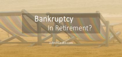 options for bankruptcy in retirement