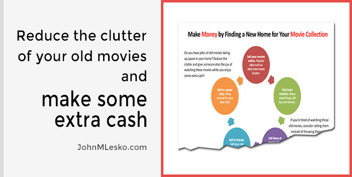 Financial Tips info-guide from John M Lesko about Simple Ways to Make Movie Collection Money