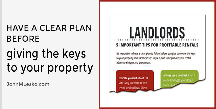 Personal finance article by John M Lesko titled 5 Important Tips for Profitable Rental Properties